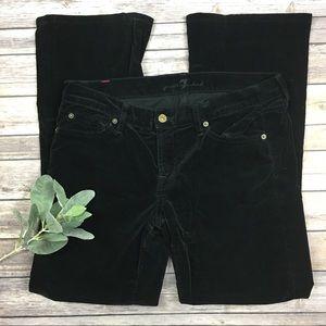 7 For All Mankind Black Velvet Pants Size 30